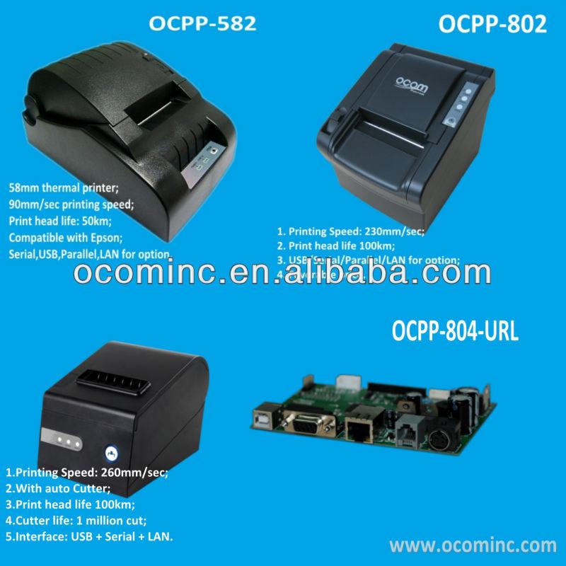 Ocpp-585- Usb Serial Parallel Lan 58mm Pos Bill Printer