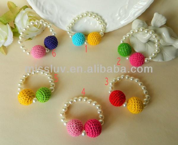 Diy del color del caramelo chunky bola de lana perla for Proveedores de material para bisuteria