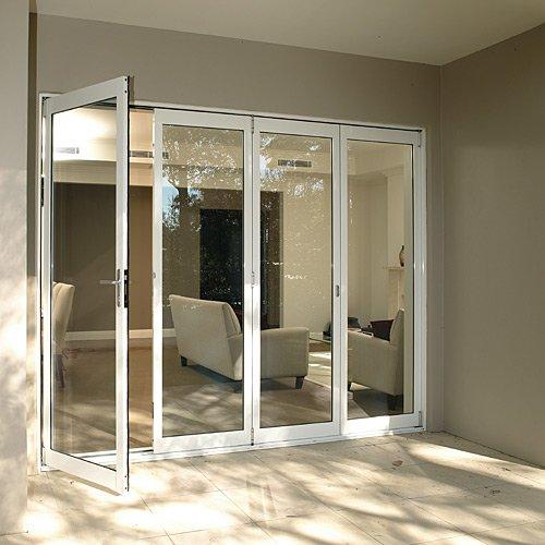 Exterior doors usage aluminum veranda bifold doors buy for Aluminium folding doors