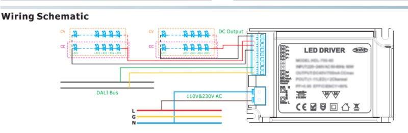 Dali Controlling Led Driver/12v 24v 350ma 700ma