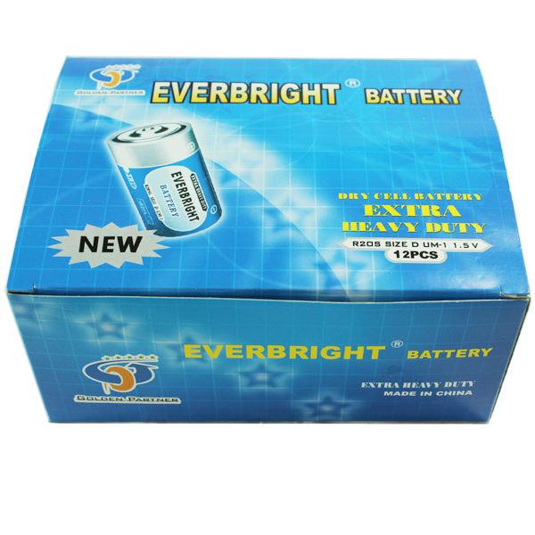 Carbon Zinc D Size Battery Batteries R20/1.5v /um-1