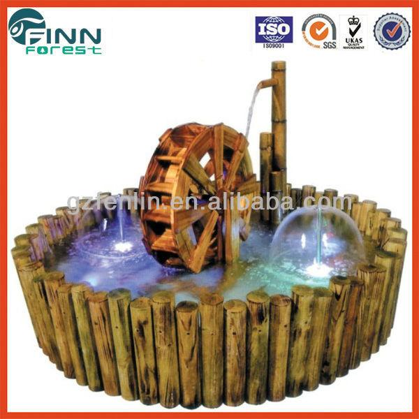 Runde Garten Holz Wasserrad Brunnen - Buy Product on Alibaba.com