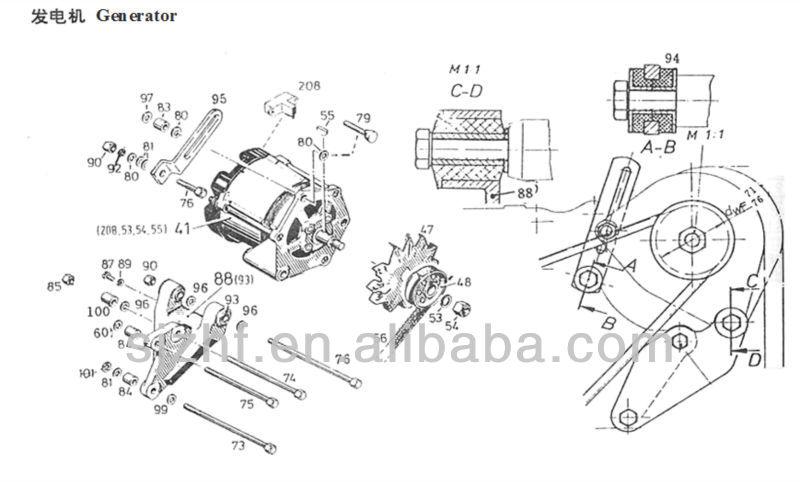 small 24v alternator for deutz 912 913 diesel engine