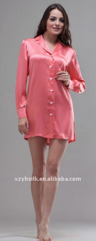 fc78a00366 Women s Silk Short Sleeve Nightshirts - Buy Night Shirts