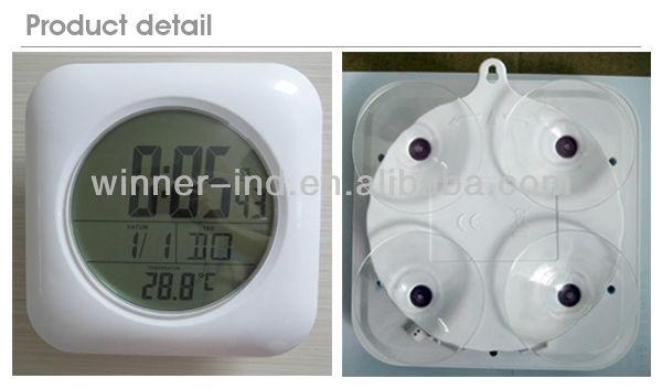 Badkamer Klok Waterdicht : Lcd digitale badkamer klok met radiografisch bestuurde waterdichte