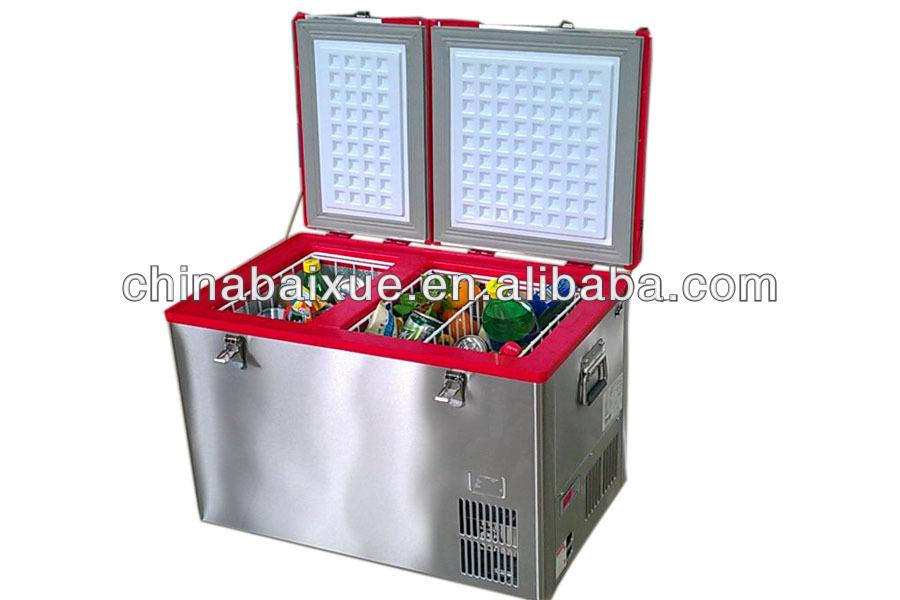 Kühlschrank Camping : Tragbare doppel tür dc kühlschrank camping tief auto