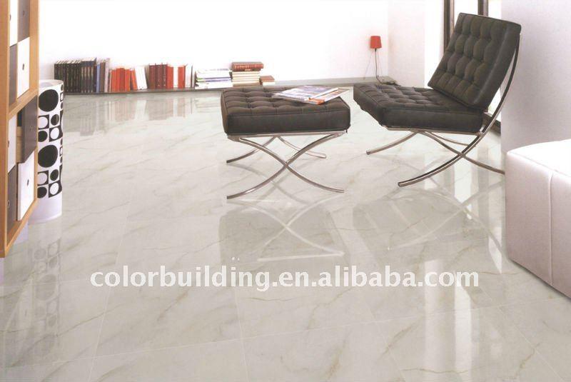 glazed polished carrara stone marble look porcelain tile