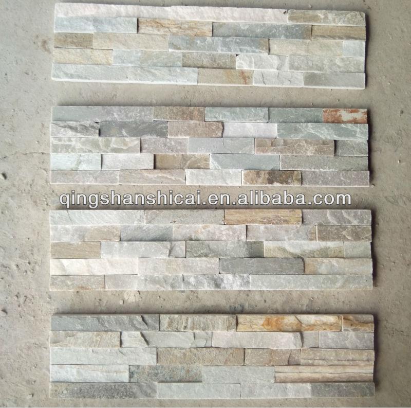 indoor culture stone panel slate rock wall ledger veneer