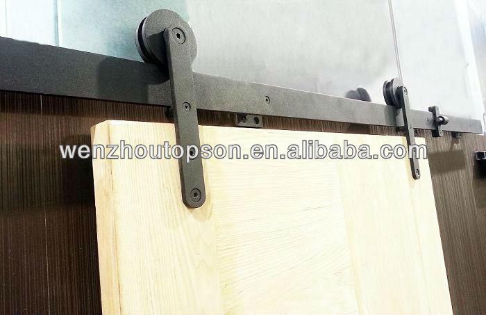 noir enduit de poudre en bois coulissante grange quincaillerie de porte kit buy grange. Black Bedroom Furniture Sets. Home Design Ideas