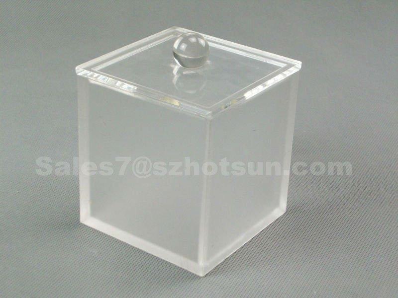 Barato Transparente Y Esmerilado Acrílico/plexiglás Caja Del Cubo ...