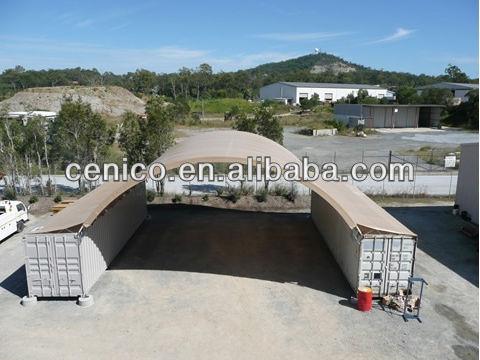 Kommerziellen container unterschlupf kuppel lager zelt for Fachwerkrahmen stahl