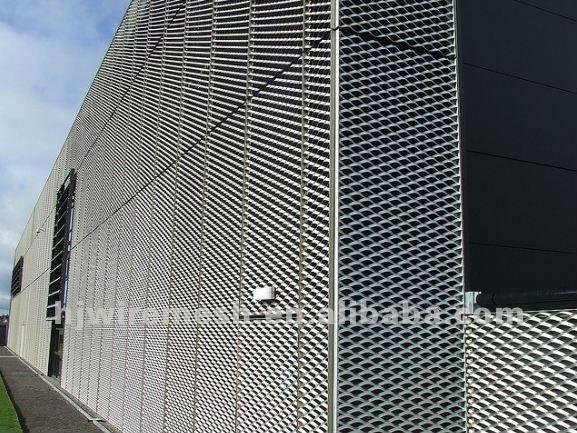 Alluminio anodizzato lamiera stirata mesh facciate for Rete stirata prezzo