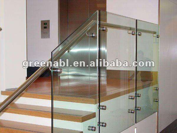Cristal barandillas para escaleras buy vidrio pasamanos for Escalera de madera al aire libre precio