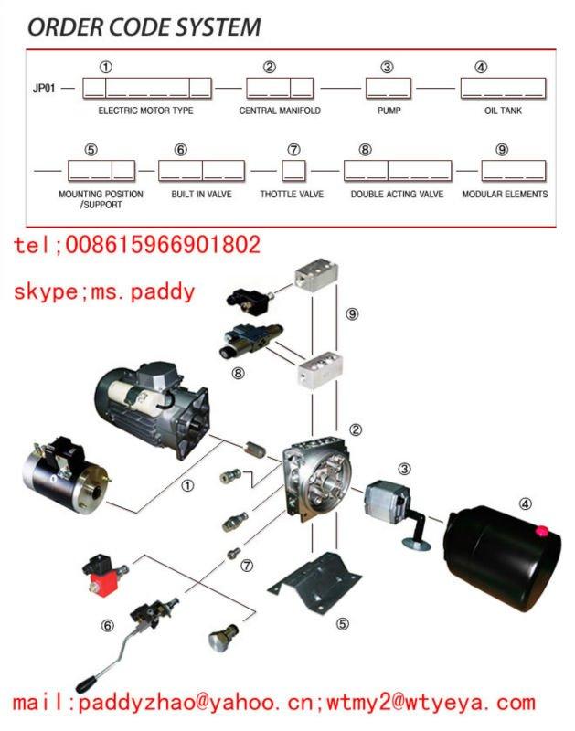 Car Lift Parts Motor Ac Hydraulic Power Unit Small 12 Volt