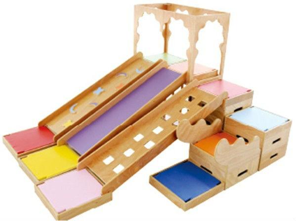 Wooden indoor playground indoor treehouse playground buy for Indoor play slide