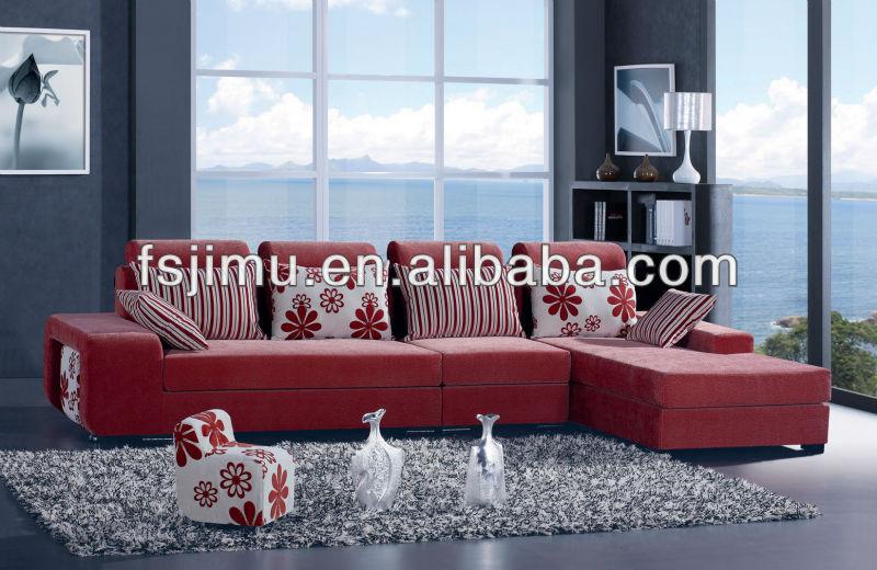 2015 Stylish Harmony Furniture Fabric Corner Home Sofa