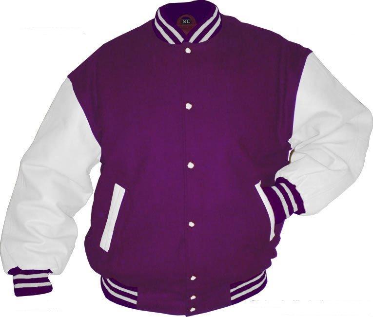Purple And White Baseball Jacket Hoodie - Buy Baseball Jacket ...