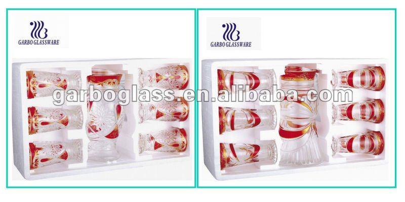 Glass Water Jug Set Glass Pitcher Set Glass Juice Pictcher Set ...
