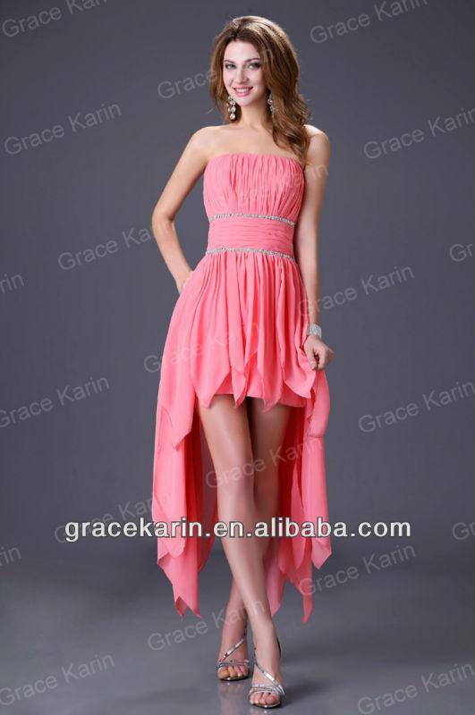 Atractivo Vestidos De Cóctel De Color Rosa Para Barato Componente ...