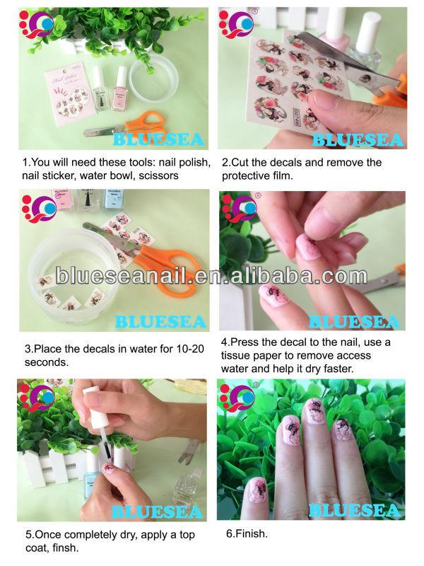 Wholesale Nails Supplies Water Nail Sticker Japanese Nail Art ...