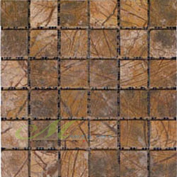 Grano de madera caf fondo mosaico de piedra azulejo de la for Mosaico madera pared