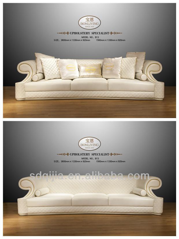 Hot Modern High End Italian Style Luxury White Sofa Living Room Leather  Furniture