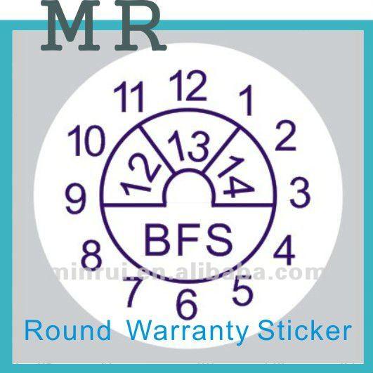 Warranty Label Stickers Date Warranty Sticker View Custom