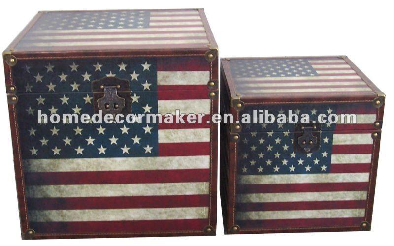 drapeau am ricain l 39 union jack conception en bois malles de rangement buy malles de rangement. Black Bedroom Furniture Sets. Home Design Ideas