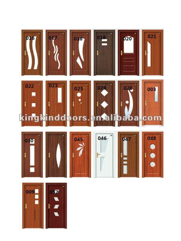 Simple Design For Hot India Sale PVC MDF DOOR Bathroom Door (JKD 8018) Part 40
