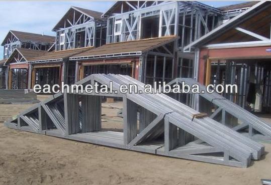Custom easy install light steel roof truss design buy for Custom roof trusses