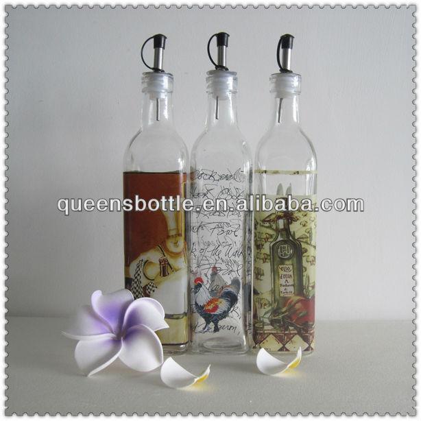 Decorative Oil Bottle Delectable 250Ml Antique Dark Green Glass Olive Oil Bottle Decorative Oil Inspiration
