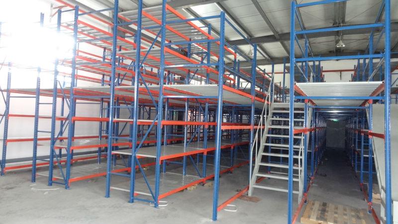 Mezzanine Floor Racking : Multi level mezzanine floor rack strong metal