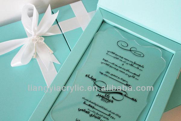 Boxed Wedding Invitations Wholesale: Wholesale Acrylic Wedding Invitation Keepsake