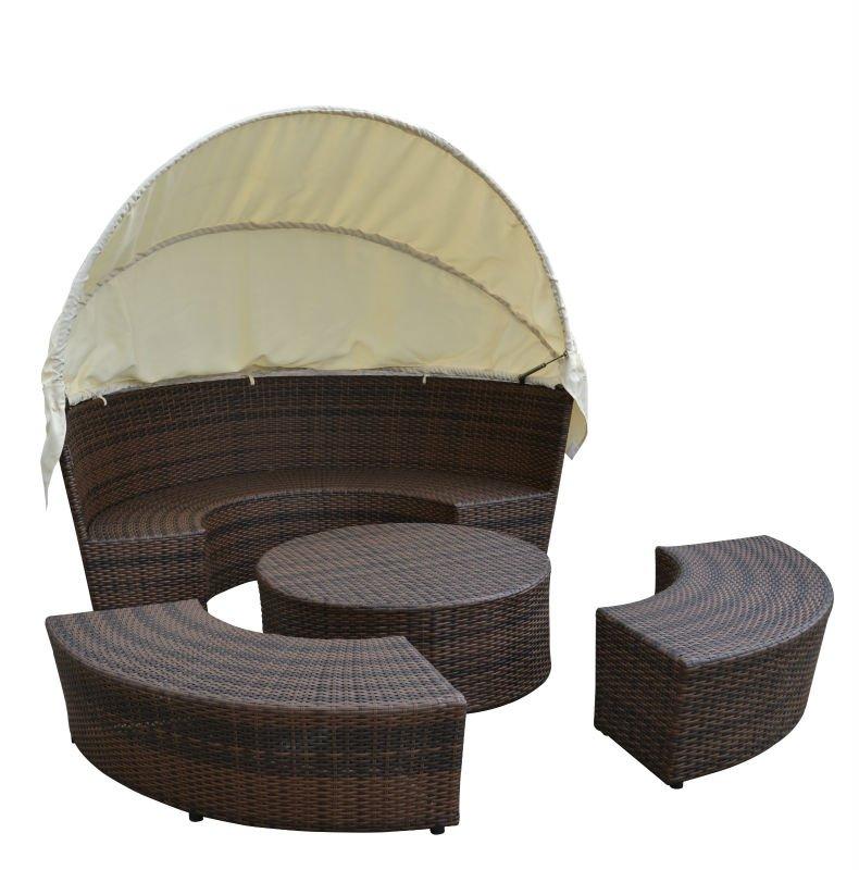 TF-9426 Port Royal Luxe Rotan Garden Day Bed Patio Sun Lounger