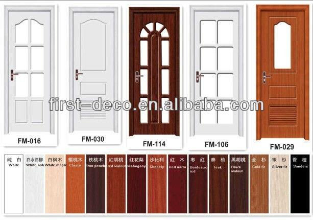 pvc interior puerta y puerta de madera maciza precio barato