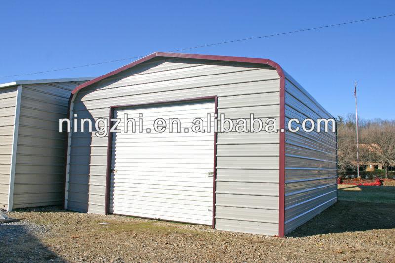 Prefab Metal Garage Storage /steel Frame Shed/steel Warehouse - Buy ...