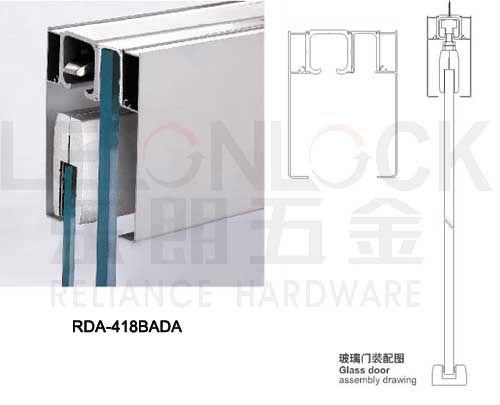 Aluminium alloy material sliding glass door hanging wheel for Hanging sliding glass doors