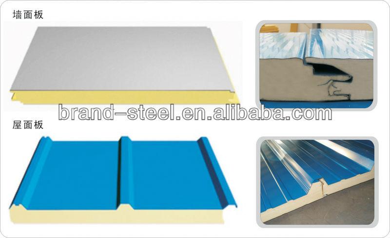 Sandwich Panels Types : Polyurethane foam pu sandwich panel insulated roof panels