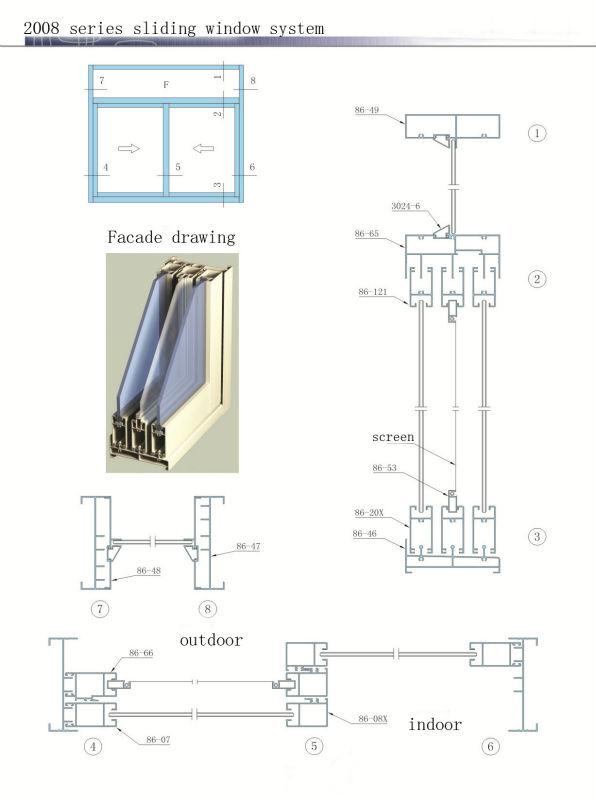 Aluminum Window Details : Price of decoration material aluminum sliding window parts
