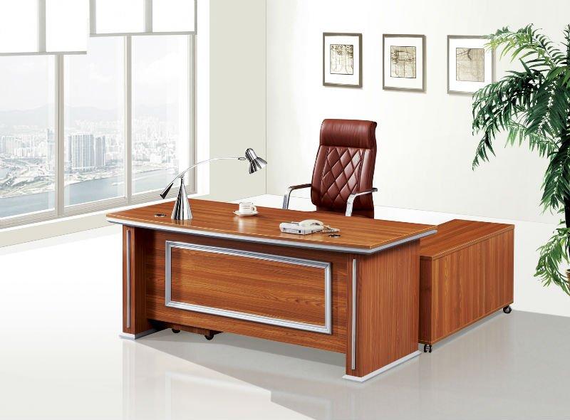 Modern High Quality Wooden Aluminum Executive Table Boss