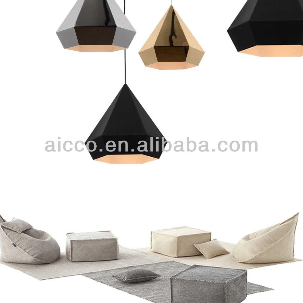 Popular Modern Himmeli Pendant Light Diamond Shape Black Chrome ...