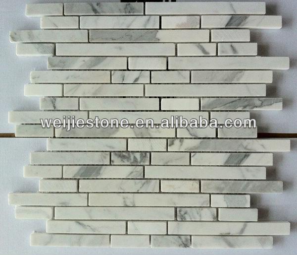 Carrara Wit Marmeren Strook Mozaã¯ek Tegel,Badkamer Muur ...