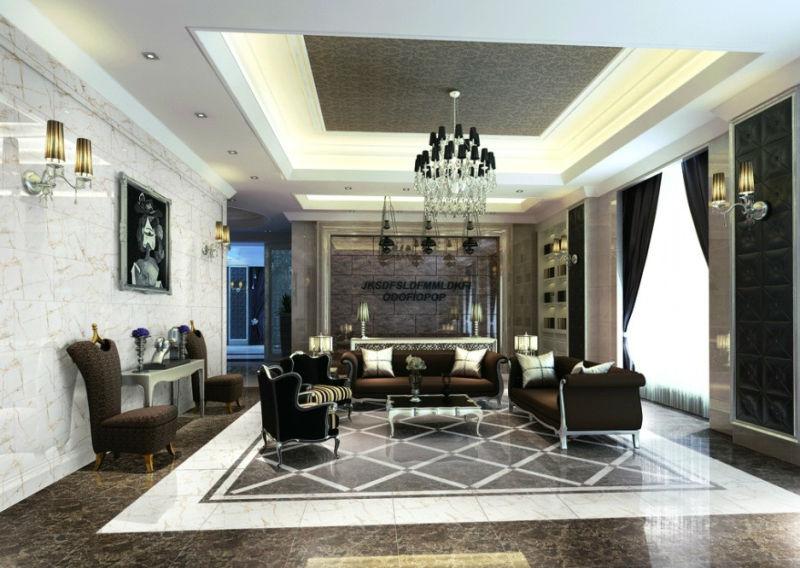 3d Inkjet Glazed Porcelain Tile Glazed Marble Tiles Luxury