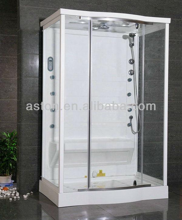 vidrio templado moderno sencillo interior sauna de vapor cabina de ducha de vidrio