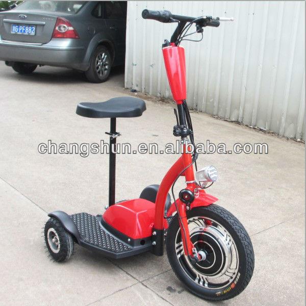 New 36v350w brushless hub motor 3 wheel scooter three for 3 wheel motor scooter for sale