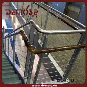 pasamanos de la escalera de barandilla de la escalera de interior metal moderno pasamanos