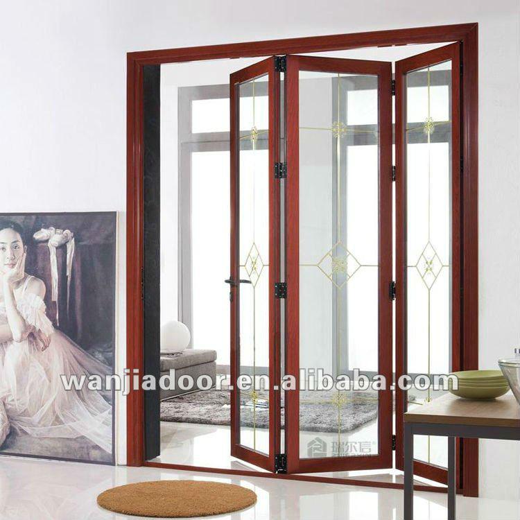 wooden color 2.0mm aluminum mosquito net doors folding & Wooden Color 2.0mm Aluminum Mosquito Net Doors Folding - Buy ... Pezcame.Com