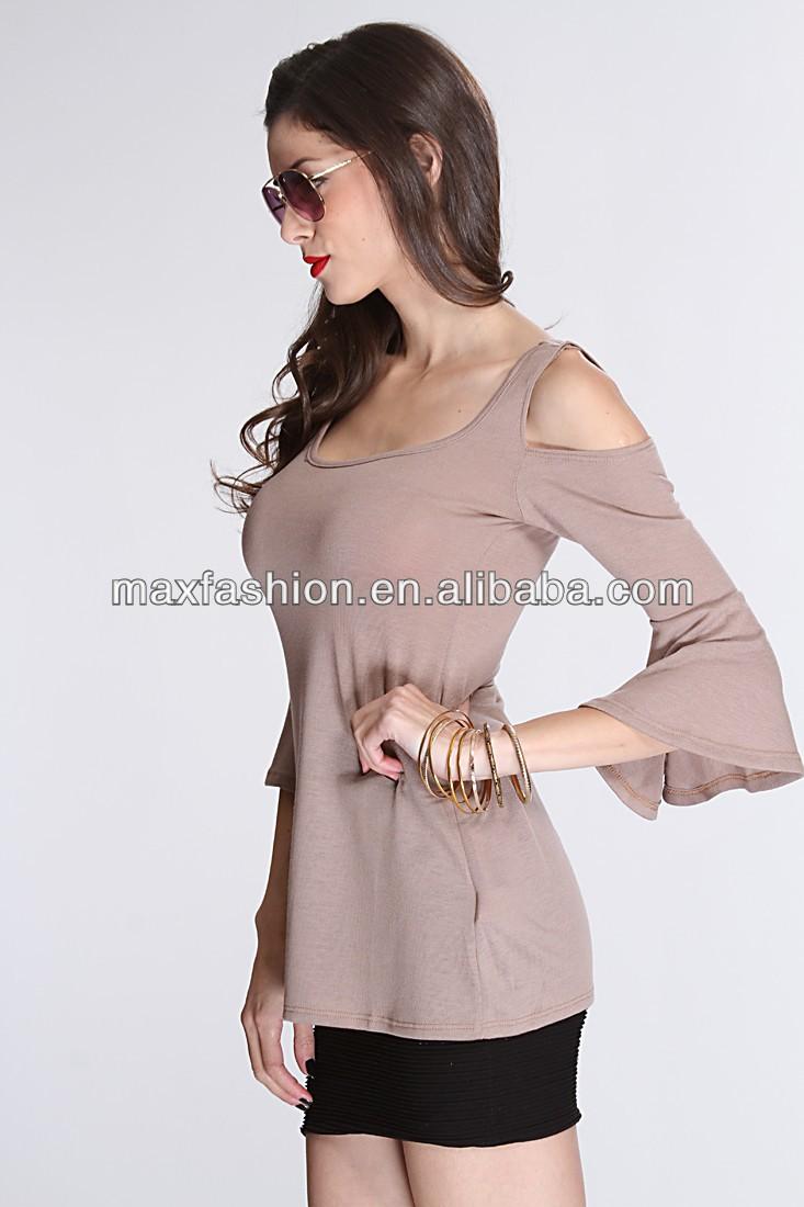 Shirt design female - Taupe Bare Shoulders Open Shirts Design For Girls Formal Shirt Trousers For Girls Girls