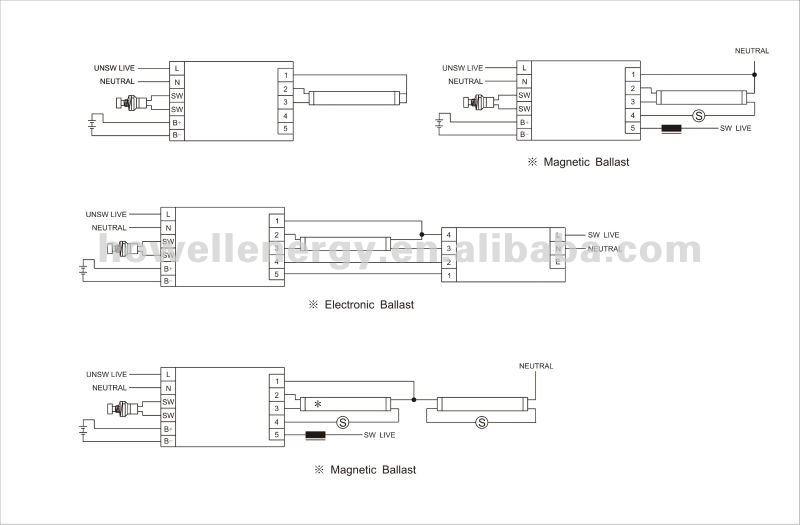 T5  T8 Fluorescent Light Emergency Light Conversion Kit