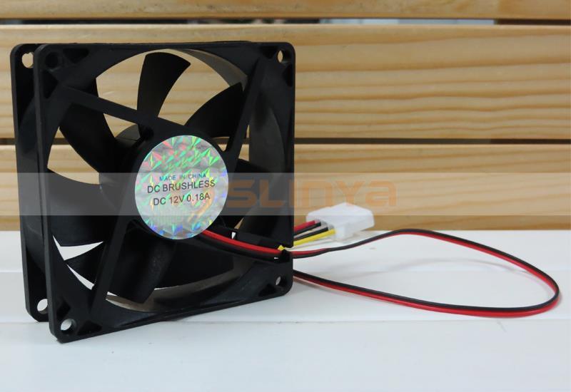 80 Mm 25 Mm Kasus Baru Fan 12 V Dc Kipas Pendingin Komputer Pc Cpu